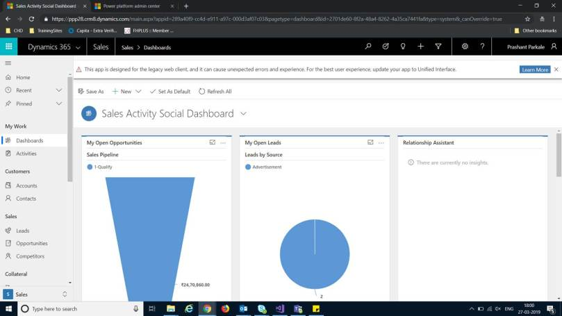 New Unified Interface of MS Dynamics 365 CRM – Change